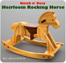 quick n u0027 easy heirloom rocking horse wood toy plan set love to