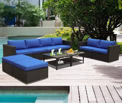 Amazon.com: Patio Furniture Garden Rattan Sofa 10-Piece PE Rattan ... Amazoncom Leaptime Patio Fniture Rattan Couch 5piece Deck Sofa Hanover Outdoor Metropolitan Wicker Frame Sunnydaze Decor Port Antonio Gray 4piece Metal Sectional Chaise Lounge Lounges Arrow Up Lyndee Blue White Striped Chair Goodglance And 2 Ding Room Outside Pe Hcom Dark Grey Accent Chairs Comfortable Sunbrella Cushions For Upper Outdoor Pillow Covers Throw Pillows Royal Etsy 5pcs Sofa Set Brown Cushion 7078 Exterior Cozy Wooden Material Lowes Navy Blue Patio Chair Cushion Cushions Navy