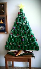 Saran Wrap Christmas Tree With Ornaments by Real Christmas Trees Decorated Plastic Lawn Decorations Idolza