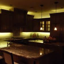 inspiring led rope lights kitchen cabinets features brown