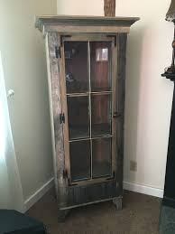 Buy a Custom Rustic Curio Cabinet With Reclaimed Antique Window