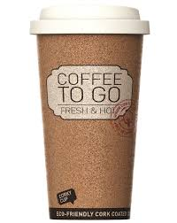 Cork Coffee Cup Reusable Insulated To Go Mug For Travel And Work