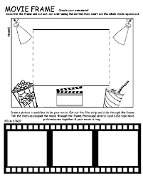 Movie Frame Coloring Page