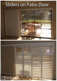 Sidelight Window Treatments Home Depot by Sliding Shutters Are Great For Sliding Glass Patio Doors Rockwood