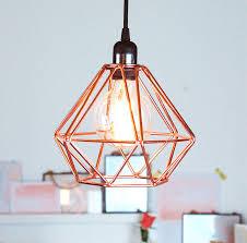 Superb Geometric Pendant Light 45 Lamp Diy Nordic Copper Ceiling Full Size