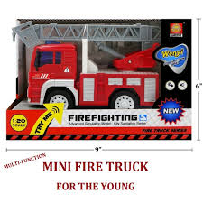 100 Mini Fire Truck FUNERICA Toy With Lights And Sounds Extendable Ladder