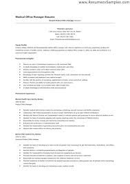 Resume Samples For Administration Manager Together With Gallery Of Medical Office To Frame Amazing Sample Finance And