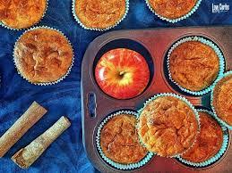 low carb apfel muffin ohne zucker getreidefrei