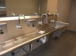 Trough Bathroom Sink With Two Faucets Canada by Trough Bathroom Sink Canada Best Bathroom Design