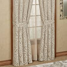 Astoria Scroll Sand Window Treatment by J Queen New York