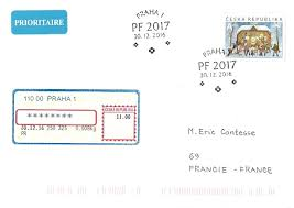 timbré de ma philatélie two different pf 2017 postmarks on