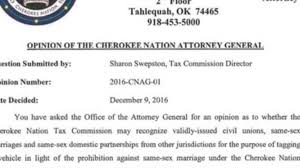Tulsa World Pumpkin Patch by Cherokee Nation Attorney General Says Tribe Must Recognize Same