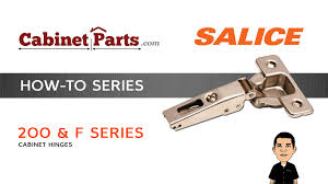 how to install salice 200 series and f series thick door hinges