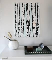 DIY Birch Tree Art