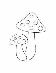 Mushroom In Rain Season Of Nature Coloring Page