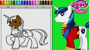 My Little Pony Friendship Is Magic Shining Armor Coloring Book Game For Children