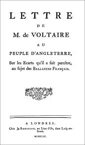 While Looking For A Pamphlet Entitled Lettre De M B Monsieur Voltaire I Came Across Au Peuple DAngleterre Sur Les