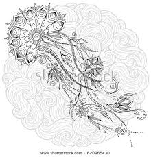 Pattern For Coloring Book Pages Kids And Adults Abstract Graphic Illustration