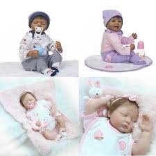 Lifelike Twin Baby Dolls New A Pair Reborn Twins Dolls 20 Boy Girl