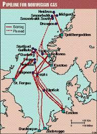 Loop Line To Carry Gas Around Ekofisk Field After It Has Been Redeveloped A Link From The Haltenbanken Area Of Norwegian Sea North Grid