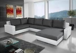 details zu couchgarnitur grado mit schlaffunktion otto rechts weiss dunkelgrau