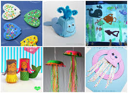 Kids And Toddlers Ocean Animal Crafts
