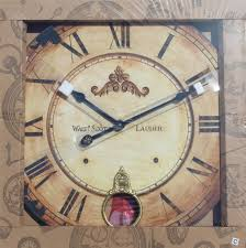 A Turn Of The Century With Vintage Inspired Design Large Round Wood Wall Clock Pendulum