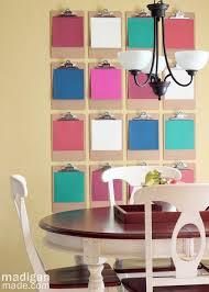 Madigan Made simple DIY ideas } Clipboard Wall Décor Oh my