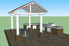 Patio Roof Plans For Home Outdoor Kitchen Set HomesCorner
