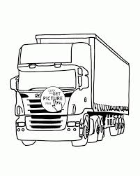 Camion Truck Coloring Page For Kids Transportation Pages Printables Free