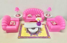 amazon com gloria barbie size dollhouse furniture living room
