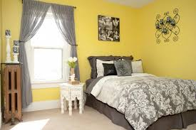 Stunning Silver Grey Yellow Bedroom Decor Blue Ilhi