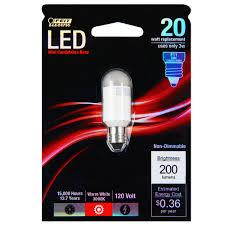 led mini candelabra 3 watt 20w equiv 200 lumens feit electric