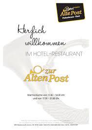 speisekarte restaurant hotel alte post eder johann gmbh in
