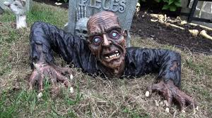Halloween Decoration Tombstone Sayings by Some Americans Go All Out Decorating Homes For Halloween Youtube