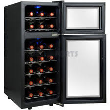 Tresanti Wine Cabinet With 24 Bottle Cooler by Tresanti Madison 24 Bottle Dual Zone Thermoelectric Wine