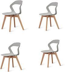 meillacc 4er set stühle mit kunststofflehne nordischer stil