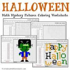 Halloween Multiplication Worksheets Coloring by Halloween Multiplication Mystery Pictures Coloring Worksheets