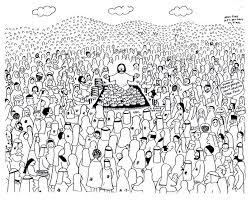 Matthew Mark Luke John Jesus Has Power To Provide Feeds The Coloring Page