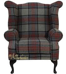 chesterfield edward wool tweed wing chair fireside high