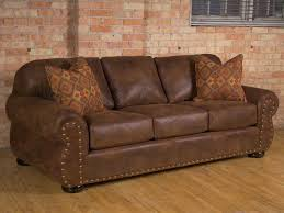 Image Of Deep Leather Couch Rustic Sofa With High Back