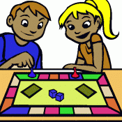 Playing Board Games Clipart 1