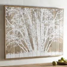 Tree Wall Decor Ideas by Frosted Tree Planked Wall Decor Pier 1 Imports