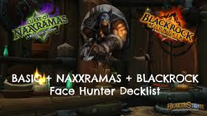 hearthstone face hunter deck only requires naxx blackrock