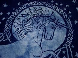 Blue Tie Dye Bedding by Celtic Knot Blue Unicorn Fantasy Tie Dye Tapestry Wall Hanging
