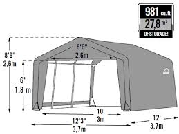 shelterlogic 12x12x8 shed in a box fabric shed kit 70443
