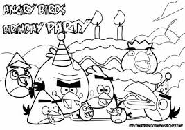 Angry Birds Birthday Coloring Pages