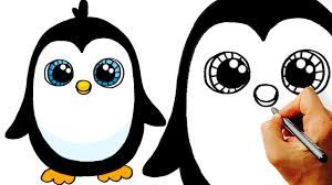 Very Easy How To Draw A Cute Cartoon Penguin Art For Kids
