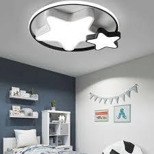 led deckenle design in schwarz weiß für schlafzimmer