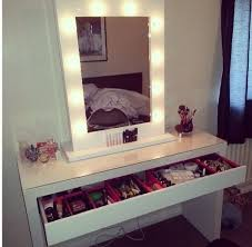 Diy Vanity Table Ikea by Manly Makeup Vanity Table And Lighted Mirror Showing Looks Heram